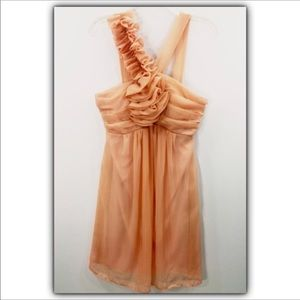 Mystic peach sheer overlay cocktail dress size L